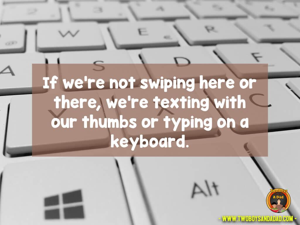 Teach keyboarding as a skill