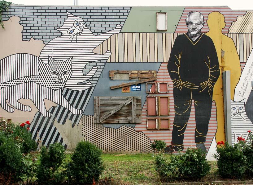 Bohumil Hrabal grafitii cartierul Liben