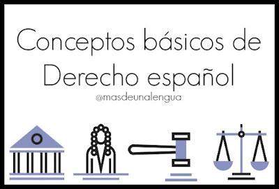 Conceptos básicos Derecho español