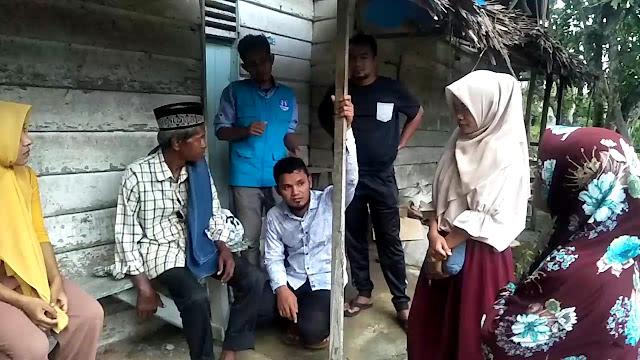 Lembaga Peduli Dhuafa Mengunjungi Tgk Nasruddin Duafa Sebatang Kara di Desa Paya  Simpang Keuramat