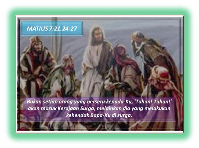 MATIUS 7:21.24-27