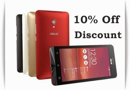 Buy Asus Zenphones at 10% discount offer on Flipkart