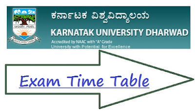 KUD Dharwad Exam Time Table 2020