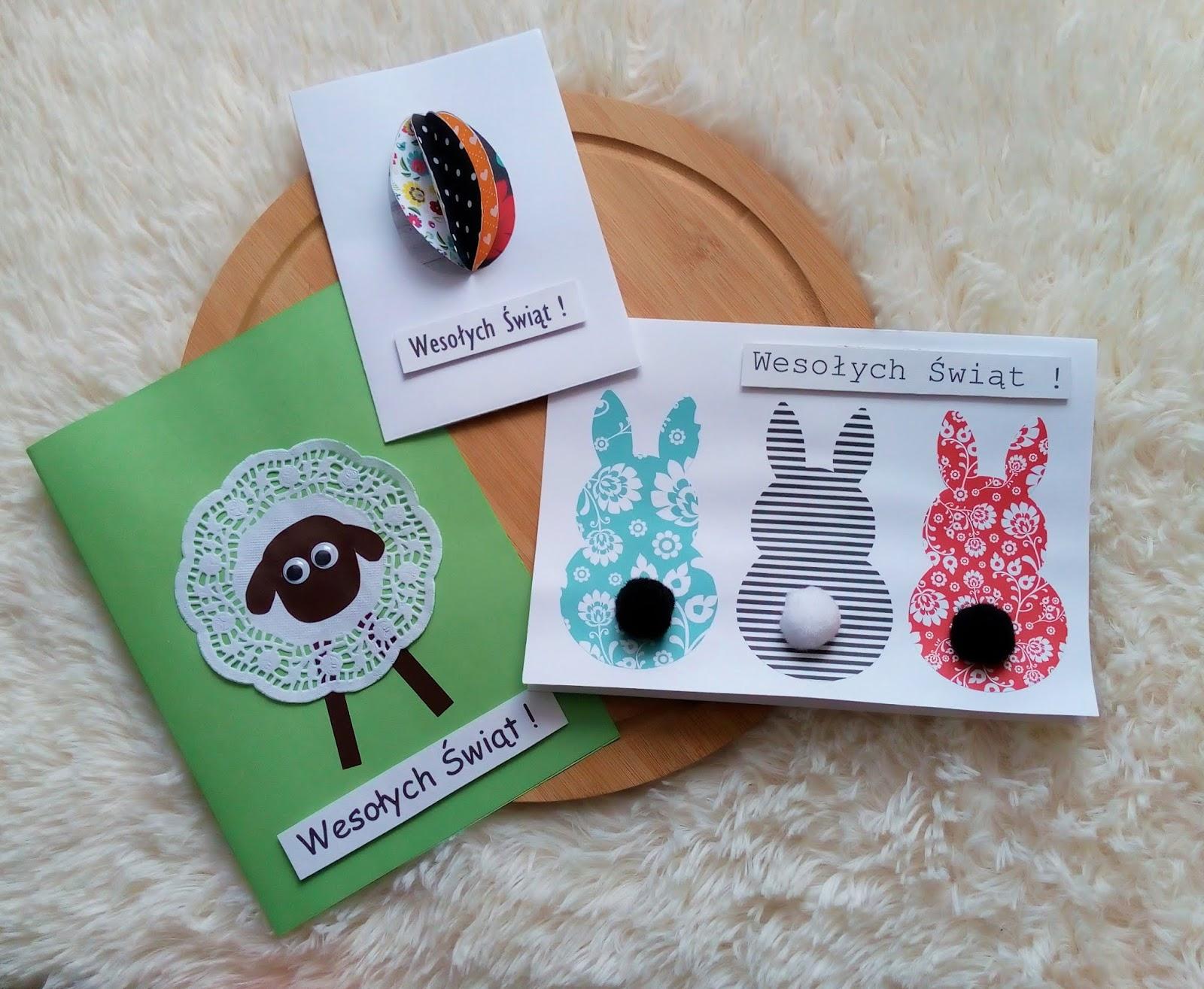 Kartki Wielkanocne robione ręcznie.