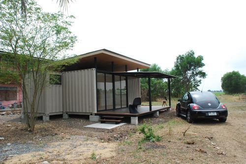 Simple Shipping Container Home Made of Two 20 ft Containers, Thailand 3