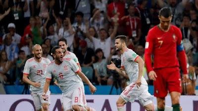 Spanyol Vs Portugal Seri 3-3, Ronaldo Borong 3 Gol