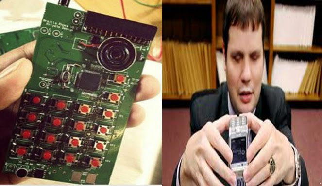 Prototipe (desain) smartphone Braille untuk penyandang tunanetra