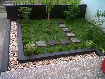Model Taman Minimalis di Depan Rumah