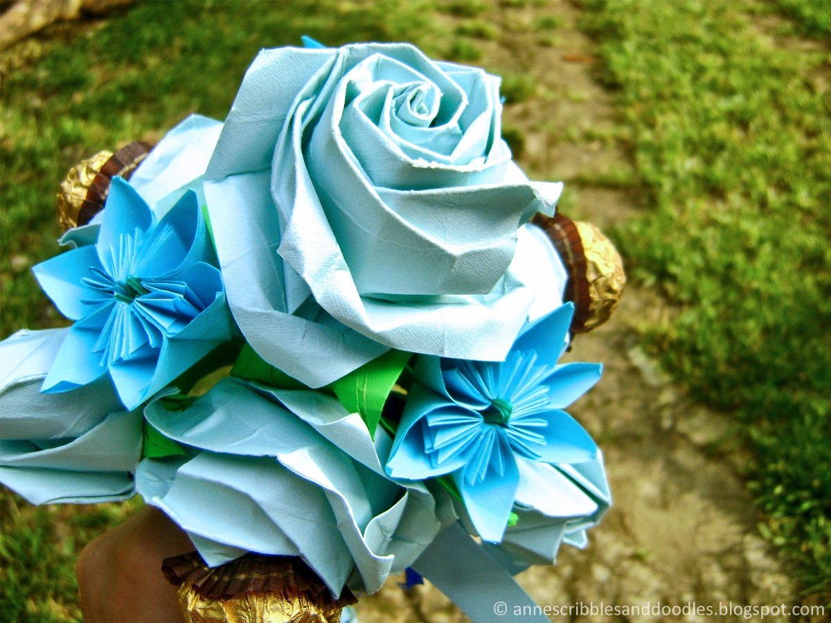 Rose Paper Bouquet