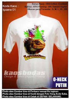 Kaos Gambar Iguana - Kode 01
