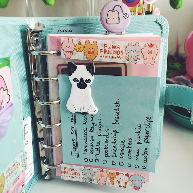 Duck Egg Blue Pocket Filofax Dashboard