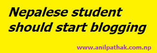 nepalese student should start blogging