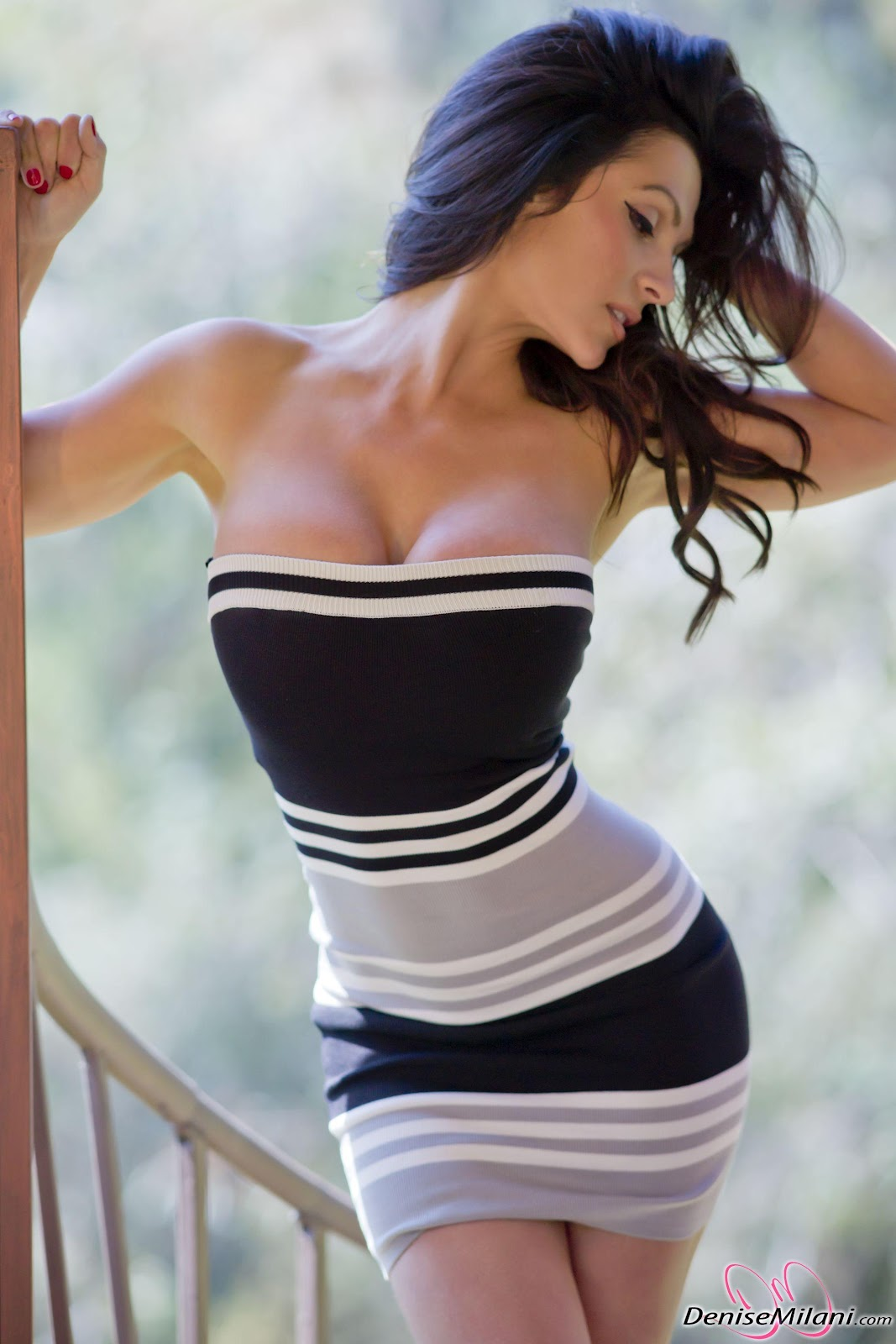denise milani in a dress - photo #14