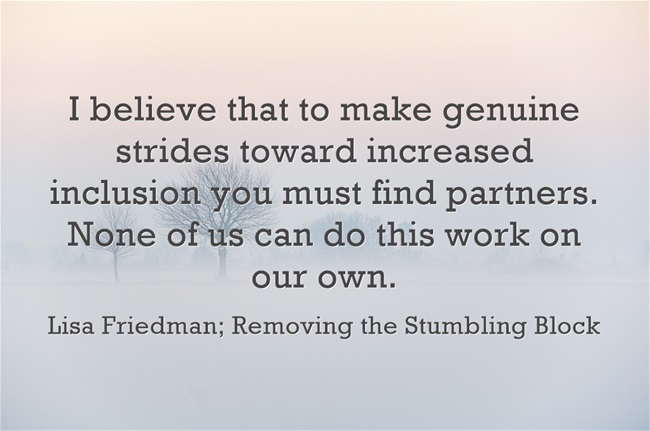 find partners; Removing the Stumbling Block
