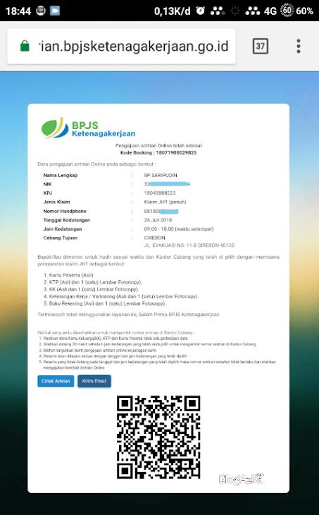 kode booking antrian online