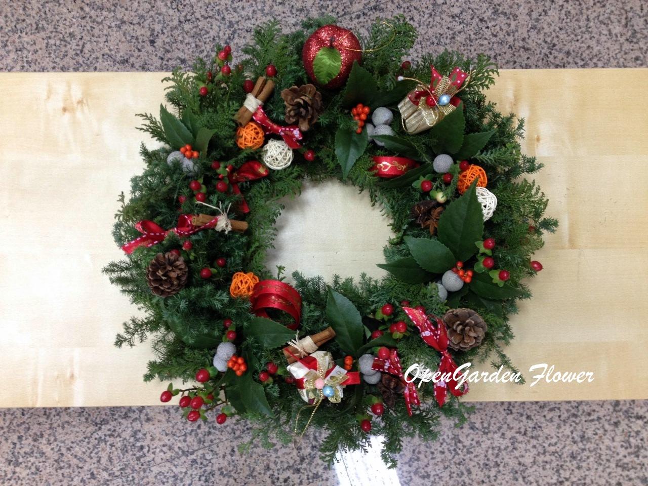 Open Garden: 歐式花藝教學 — 聖誕花環