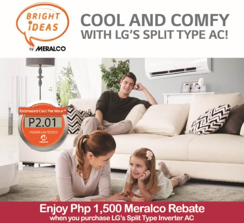 LG Partners with Meralco for Php1,500 Rebate