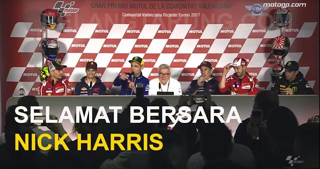 Pengulas MotoGP Nick Harris Bersara
