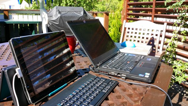 Dimi Doukas blog - working remote on terrace