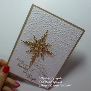Star of Light Christmas Card in Gold Foil