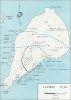 Mapa militar de la isla de Iwo Jima