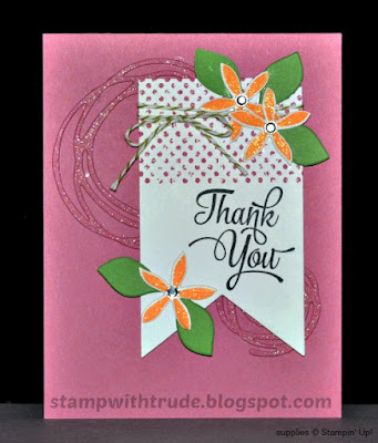 swirly scribbles, One Big Meaning, Stampin' Up!, Stamp with Trude, thank you card
