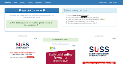Cara Membuat Blog Safelink Converter Terbaru 2017 Dengan Mudah Dan 100% Work Selamanya