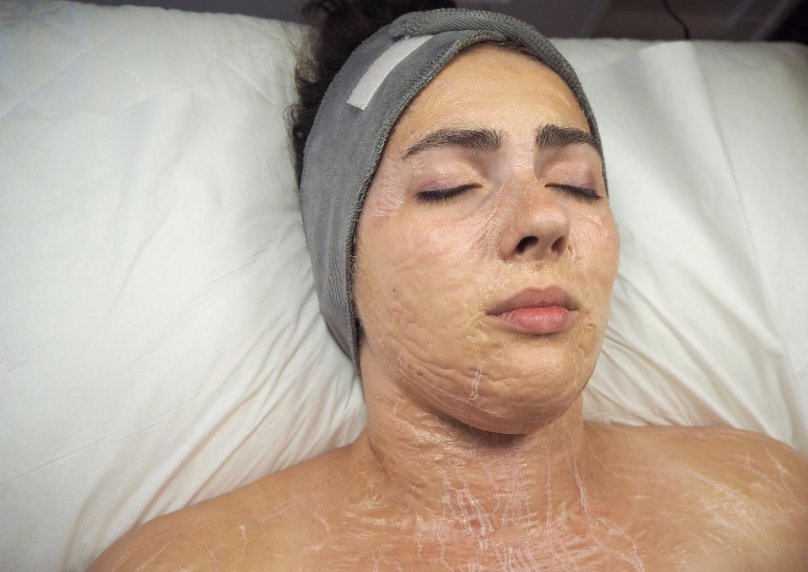 Mask on skin