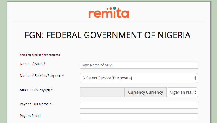Federal Government Bills Using Remita Platform