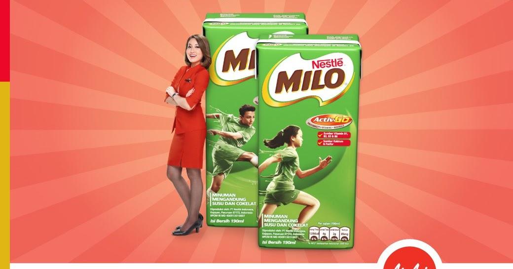 Alfamart - Promo Bayar Tiket AirAsia Gratis 2 Kotak Milo
