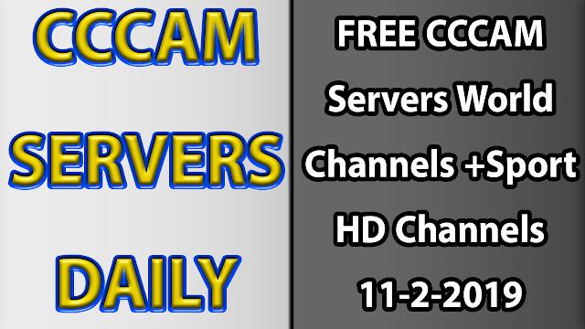 FREE CCCAM Servers World Channels +Sport HD Channels 11-2-2019