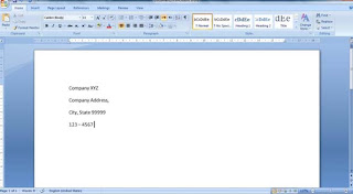 a কিভাবে Business Letterhead WORD 2007 এবং 2010 এ তৈরী করা যায়? | Techtunes কিভাবে Business Letterhead WORD 2007 এবং 2010 এ তৈরী করা যায়