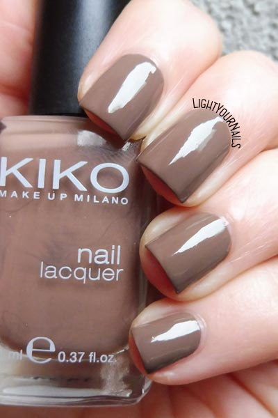 Smalto Kiko 322 Caffelatte nail polish #kiko #nails #unghie #lightyournails