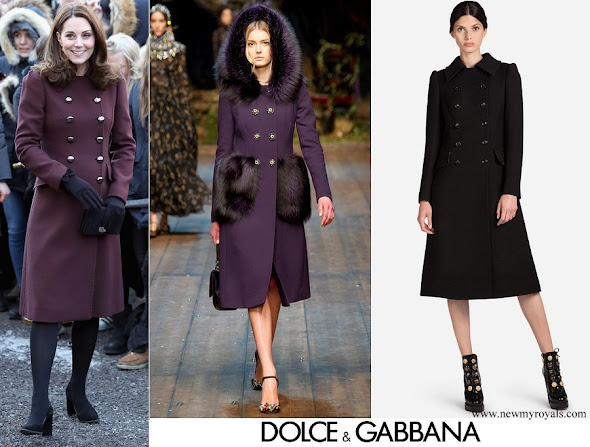 Kate Middleton wore DOLCE & GABBANA Double-breasted Wool Coat