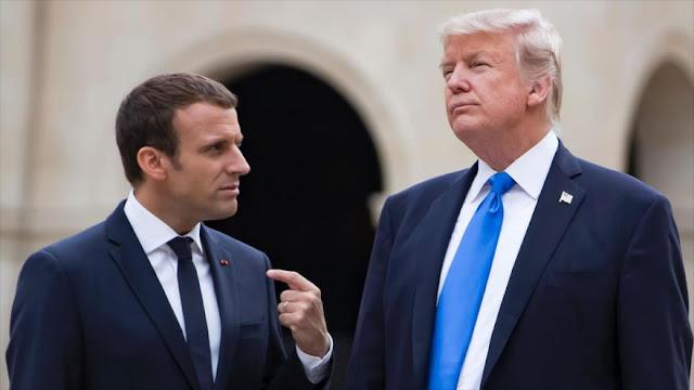Macron exige ante Trump solución política para Siria en semanas