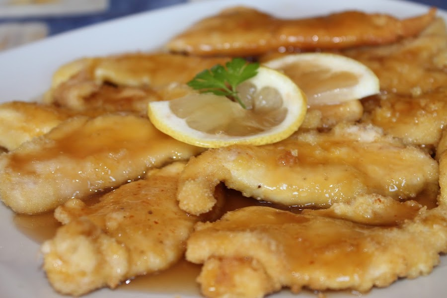 Pollo frito al limón estilo chino