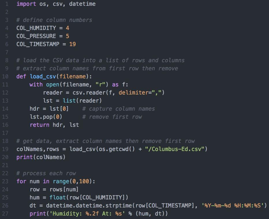 David Briddock: Astro Pi Data: Python Basics