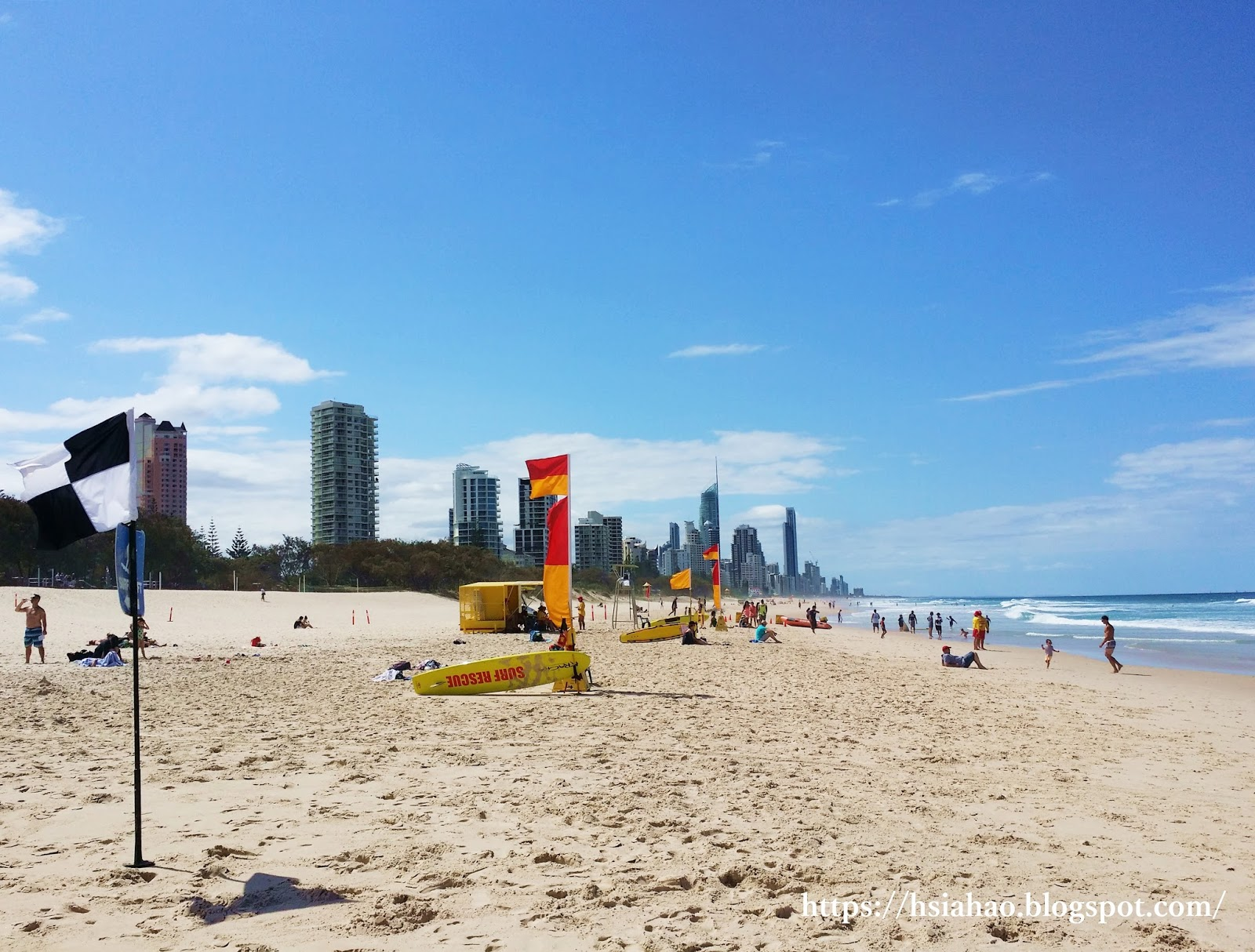 黃金海岸-衝浪者天堂-海灘-推薦-景點-布羅德海灘-Broadbeach-Gold-Coast-Surfers-Paradise-Beach