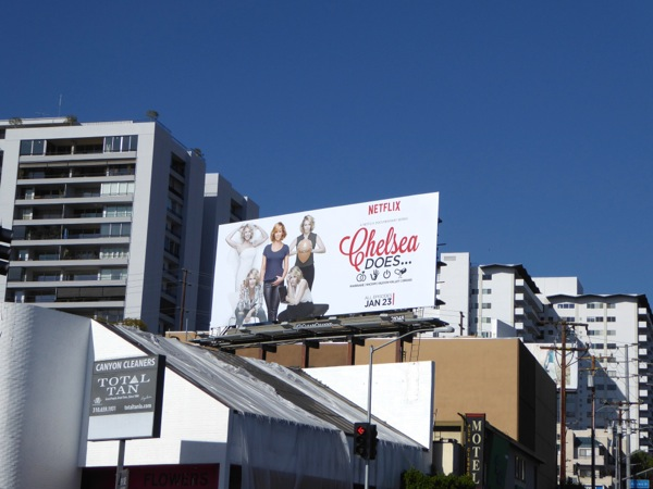 Chelsea Does series launch billboard