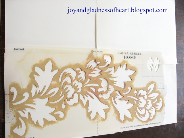 stencil with laura ashley stencil