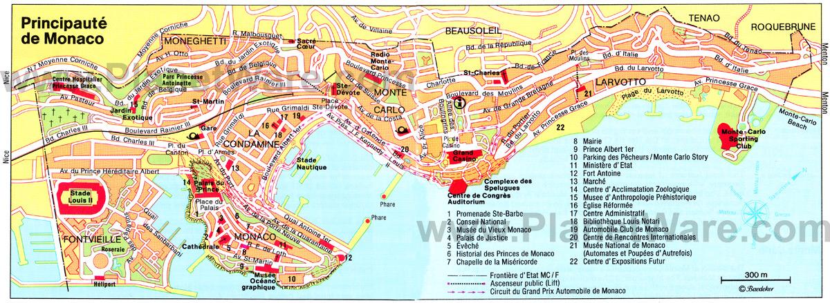 Mônaco | Mapas Geográficos de Mônaco