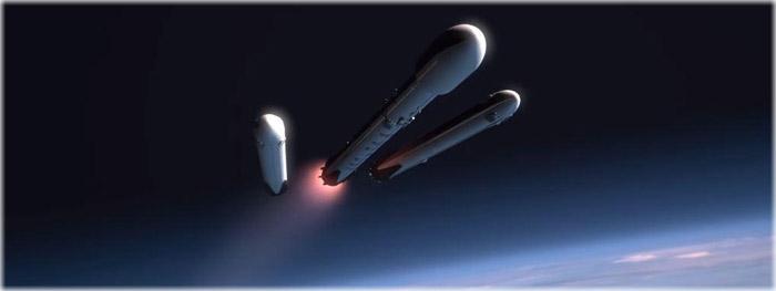 Falcon Heavy - pequena falha - lançamento