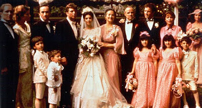 the godfather, talia shire's wedding, corleone family picture, directed by Francis Ford Coppola