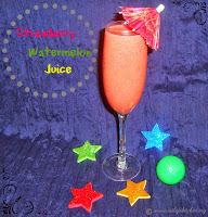 Strawberry Watermelon Juice - A Summer Drink Recipe