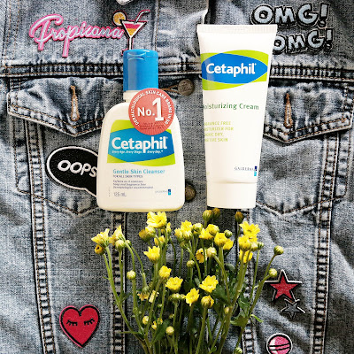 cetaphil gentle skin cleanser, cetaphil moisturizing cream