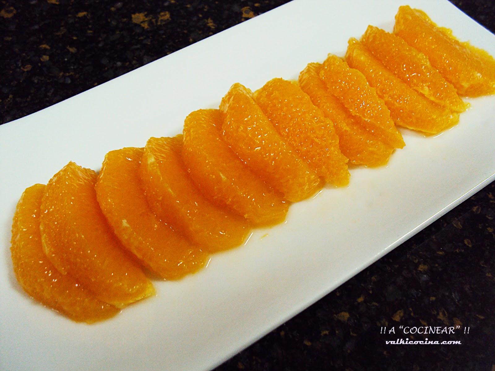 limpiar y desgajar naranjas y video