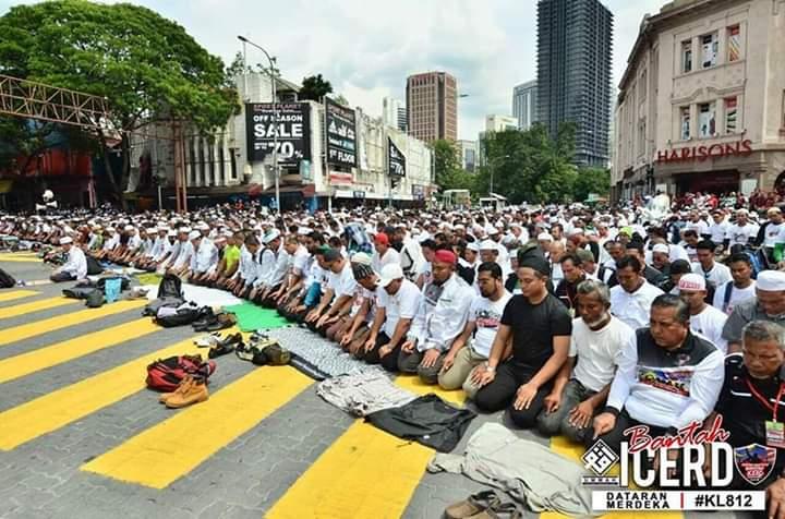 Bikin Merinding! Begini Penampakan Massa Aksi 812 di Malaysia
