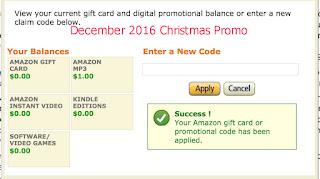 free Amazon coupons december 2016