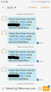 Testimoni Jasa Injek Kuota Paket internet AS Simpati dan Loop Murah