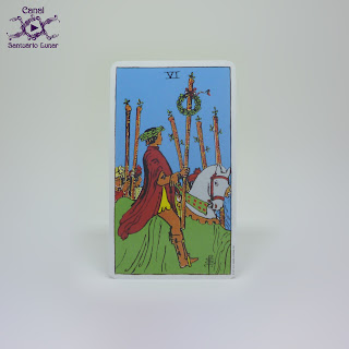 The Rider Tarot (US Games System) - 6 of Staves